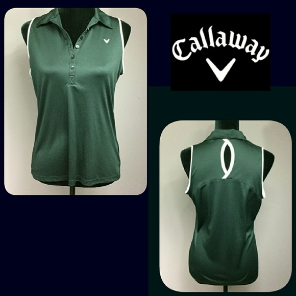 1e78bb0c36b23 Callaway Tops - Ladies Callaway Collared Sleeveless Golf Shirt